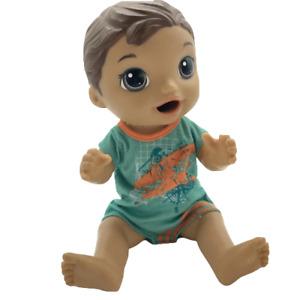 "Baby Alive Snackin' Luke Doll 12"" Brown Hair 2015 Hadbro"