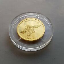 """⭐️ DEUTSCHLAND 20 Euro GOLD FICHTE """"J"""" 2012 mit ZERTIFIKAT BRD PP Deutscher Wald"""