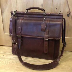 Vintage WILSON'S LEATHER Briefcase, Laptop, Messenger Bag, Burgundy unisex