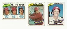 VINTAGE 1980 TOPPS Major League Baseball CARDS – Philadelphia Phillies – MLB