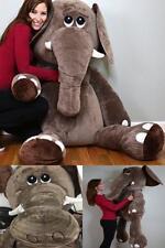 Elephant Giant 5` Giant Size Stuffed Animals Plush Squishy Huggable Made In USA