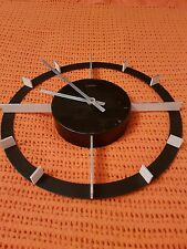 KIENZLE AUTOMATIC WALL CLOCK METAL 1960'S ATOMIC INDUSTRIAL GERMANY METAMEC GWO