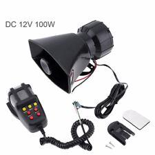 Microphone 12VDC 80W Tone Wehicle Car 7 Sound Siren Loud Horn Auto Speaker Alarm