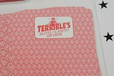 Rare Terribles Hotel & Casino Las Vegas Playing Cards Red Deck