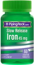 SLOW RELEASE IRON 45 MG FERROUS SULFATE DIETARY SUPPLEMENT 60 COATED TABLETS