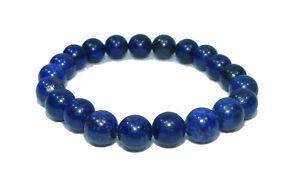 Bracelet de perles LAPIS LAZULI Pierres naturelles 8 mm 18cm Lithothérapie