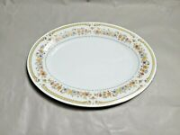 Liling Fine China by Yung Sen Floral Pattern Oval Serving Platter 14'' by 10.5''