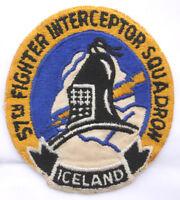 1950s USAF 57th Fighter Interceptor Sqdn Twill Patch - F-89 / F-102