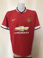 Manchester United 2014/2015 Home Sz XL Nike soccer shirt jersey football maillot