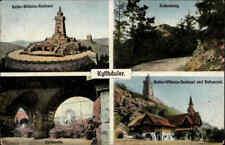 Feldpostkarte 1918 Kyffhäuser Mehrbild-AK gelaufen ab Stempel von MISWALDE AK