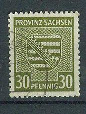 Alliierte Besetzung Briefmarken 1945 Provinz Sachen Mi 83x o