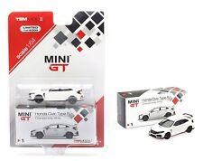 MINI GT HONDA CIVIC TYPE R FK8 CHAMPION WHITE (LHD) 1/64 DIECAST CAR MGT00001