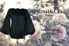 NWT RIMI&Co.Cleric Balloon Sleeve Blouse Free Shipping World Wide