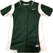 Nike Baseball Jersey Green and White Large