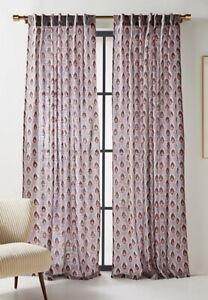 "Anthropologie Mia Medallion Print Curtain Panel 7 Available 50"" X 108"" EUC"