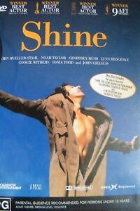 Shine DVD 1996 - Jeffery Rush, David Helfgott BIO MUSIC Piano Themed Drama