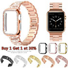 Bling iWatch Strap Case For Apple Watch Band Series 6 5 4 3 2 1 SE 38 40 42 44mm