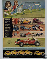1972 PAPER AD 2 PG Screami'n Demons Toy Race Cars Dare Devils VW Imposter Cycle
