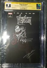 Venom The End 1 CGC SS 9.8 Blank Variant 2X SIGNED + Sketch Kirkham & Cates