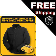 New DeWalt Black Soft Shell Heated Black Jacket Small DCHJ060B-S 20V/12V MAX