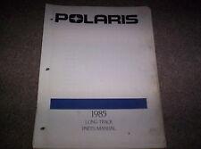 Vintage Snowmobile Polaris 1985 Long Track Parts Manual Not A Copy