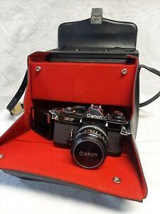 Canon EF Analogkamera - Vintage - im Set mit Blitz, Objektiv und Linsen