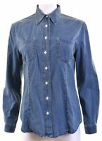 ARMANI JEANS Womens Denim Shirt UK 18 XL Blue Cotton  HA06