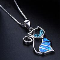 donne moda alla moda opal collana gioielli catena il ciondolo a forma di gatto