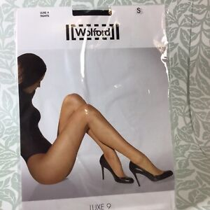 Wolford Luxe 9 Tights Black Small Brand New In Packet