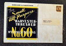 McCormick Deering Brochure - No. 60 Harvester Thresher - Vintage Foldout Poster