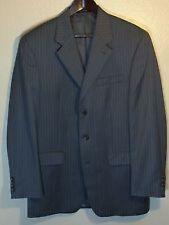 SALE PRICE - CHAPS GREY STRIPED TWO BUTTON SUIT JACKET - 46 LONG - BRAND NEW