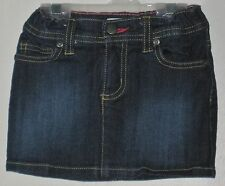 DKNY Size 3T Blue Front-Zipper Adjustable Waist Denim Skirt with Inner Shorts