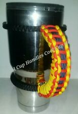 Paracord Handle for 40oz, 30oz or a 20oz Yeti, Rtic, & Ozark Red Yellow Blue
