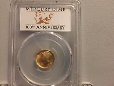 2016 W Gold Mercury Dime PCGS SP69 First Strike100th Anniversary Label