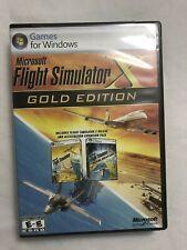 Microsoft Flight Simulator X Gold Edition Windows PC 2008 3 Disc Set