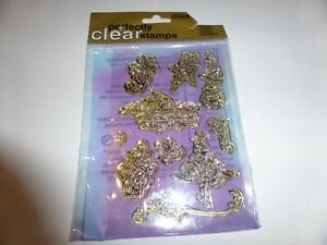 10  CLEAR RUBBER STAMPS CHRISTMAS IDEAL FOR CARD MAKING