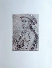 La Madeleine figure en Buste de ROGIER Van Der WEYDEN Dessin Imprimé 197x270 mm