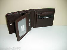 New PIERRE CARDIN Genuine Leather Mens Wallet Coin Card Holder+Gift Box 4 Styles
