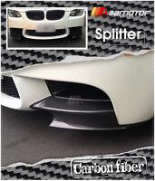 Carbon Fibre P Style Front Spoiler Lip Bumper Splitters for BMW E90/ E92/ E93 M3