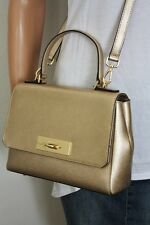 MICHAEL KORS CALLIE Tasche Bag Saffianoleder MD TH Satchel pale gold