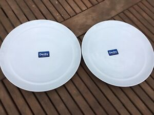 Denby White Dinner Plates X 2 28cm Brand New With Labels