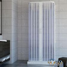 Box doccia cabina parete fissa tre lati 3 a soffietto in Pvc