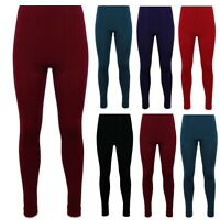 2er Pack Damen Thermo Leggings Warm Weich Blickdicht Winter Strumpfhose Fleece