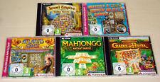 5 pc jeux collection match 3 tuiles Jewel Empire Atlantis quest Cradle pesia