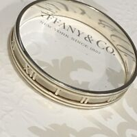 Retired Authentic Tiffany & Co. Atlas Wide Silver Bangle Cuff