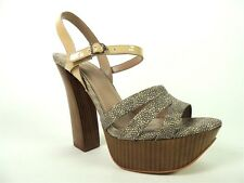 Vince Camuto Women's Miner High Sandals Leather Spot Stingray Size 9.5 (B, M)