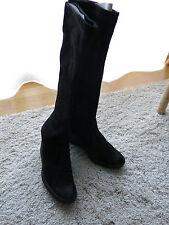 Designer Stiefel von Pollini, schwarz, echtes Nubukleder, schwarz, Gr. 38