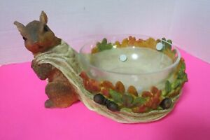 Autumns Bounty Squirrel Nut Bowl Fall Decor New In Open Box