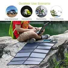 18V 80W Foldable Solar Power Portable USB DC Charger For Loptop Tablets Phones