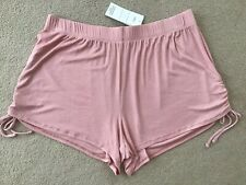M&S SIDE TIE PINK LOUNGE SHORTS SIZE 14